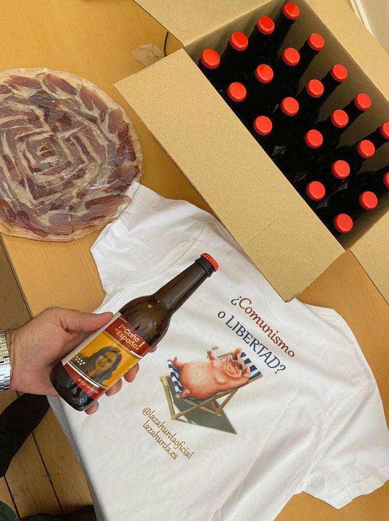 Gracias Madrid - caja cerveza ayuso