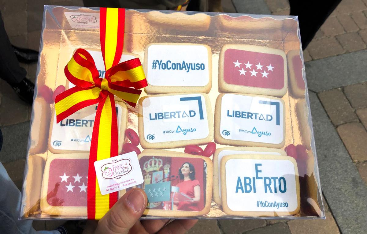 Gracias Madrid - galletas ayuso